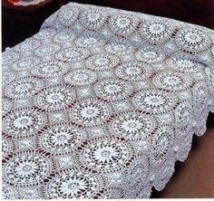Вязание плед покрывало из мотивов