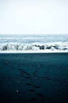 water, beaches, sand, blue, the ocean, wave, sea, winter collection, black