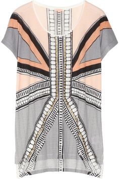 SASS & BIDE Playing With Fire embellished cotton-jersey T-shirt