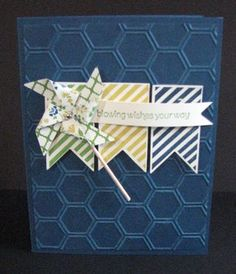Cute pin wheel card.