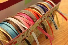 delicateCONSTRUCTION: Shoe Box Ribbon Storage