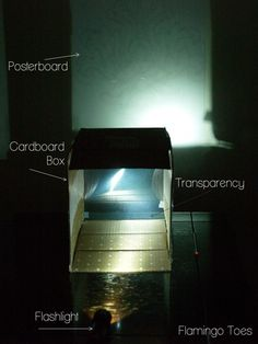 Making a homemade projector to enlarge a pattern and make a stencil.