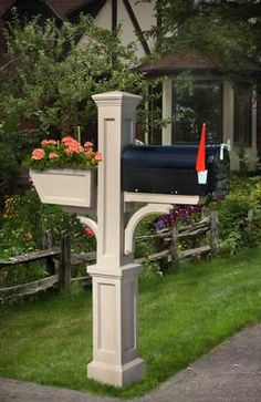 Mailbox with flower box
