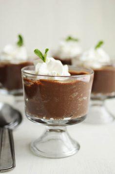 Triple chocolate crockpot custard