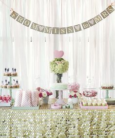 Bridal shower banner.