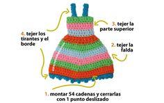 vestido para muñeca Barbie tejido a crochet - Barbie's crochet dress