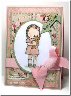 MFT Stamps Pure Innocence Bear Hugs created by Frances Byrne