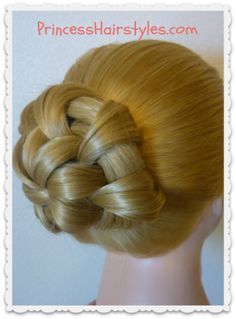 Star Flower Bun Hair Tutorial #prom #wedding #updo #bun