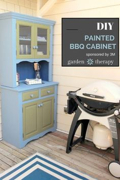 DIY Painted BBQ Cabinet Project #3MDIY #3MPartner