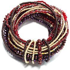 C.A.K.E. By Ali Khan Bracelet, Multi Beaded Stretch Bracelet found on Polyvore