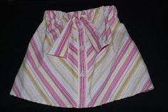 Women's Button-up to Little Girl's Skirt Tutorial