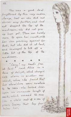Lewis Carroll's Alice's Adventures Under Ground Original manuscript.
