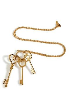 Gold Key Charm Necklace