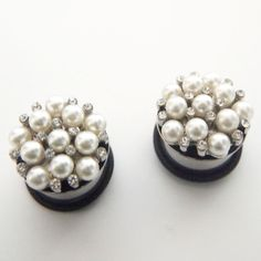 Pearl Cluster Plugs by Glamsquared.com