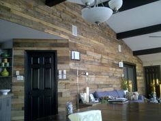 """My """"wooden pallet"""" wall!"""