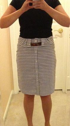 DIY men's button up to cute summer skirt tutorial!