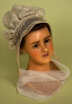 Broderie Anglaise Lady's Cap, 1820s