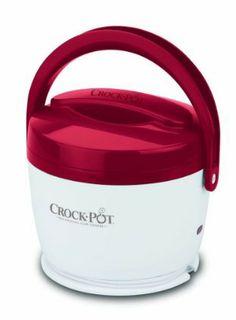red kitchen, crock pots, crock food, lunch crock, food warmer