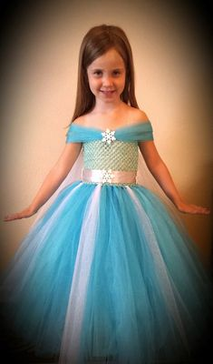 ELSA Costume/ Princess tutu Dress perfect for FROZEN birthday parties and this coming Halloween. In size newborn to 12 years old on Etsy, $32.00
