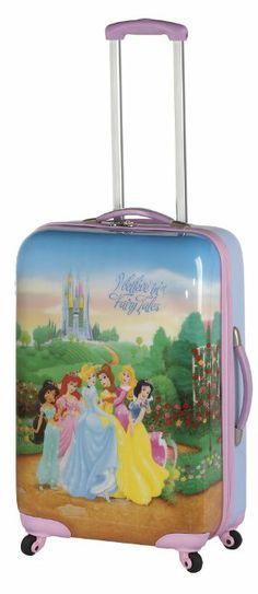 Amazon.com: Disney By Heys Luggage Disney Princess Fairy Tales 25 Inch Hard Side Spinner Suitcase, Princess, One Size: Clothing