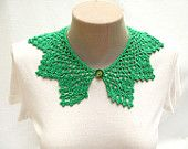 PDF Tutorial  Crochet Pattern... Lace Peter Pan Collar - 4