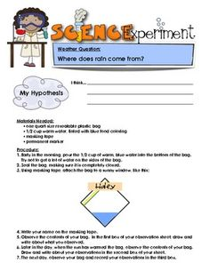 """Sample page from """"Weather Science Experiments""""  {8 Fun, Engaging Experiments}  $"""
