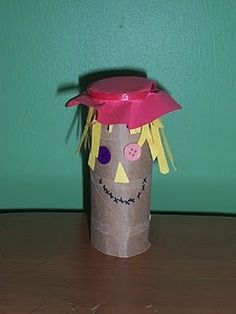 toilet paper roll scarecrow.