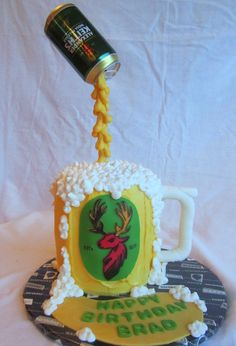 - Pouring beer can cake - Keith's