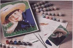 Personalized Photo Paint-By-Number Kit  I want to order one of these!!!