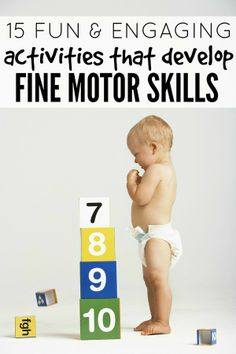 Whether you're specifically looking for activities to help develop your child's fine motor skills, or just need some boredom busters to keep your kids busy while you cook dinner, you will love this list of 15 fun & engaging activities that develop fine motor skills!
