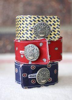 Recycled Necktie Cuff Bracelet