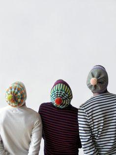 pom pom hats via @designformankind