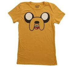 Women's Adventure Time Jake Face!  #women #adventure #adventuretime #face #jake #shirt #shirts #t-shirt #t-shirts #funny #tv #shows