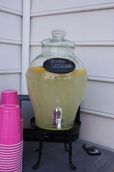 Drunken lemonade for your next outdoor party.