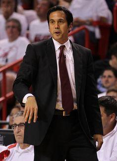 latest picture of erik spolstra | Erik Spoelstra Head coach Erik Spoelstra of the Miami Heat coaches ...