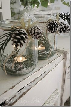 Winter Wonderland candle holders.