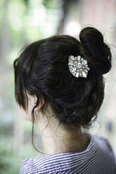 DIY: jewel hair clips
