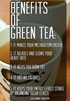 Green tea is AMAZING for our health!