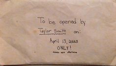After Taylor died, her parents began sorting through her things. And that's when they found a letter she had written to her future self.