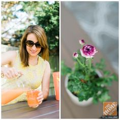 Renter's Backyard Makeover: Caitlin Moran entertaining on her patio. Click through for great ways to make your deck ready for entertaining.