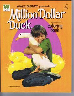 Million Dollar Duck Coloring Book, #1142, 1971