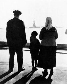 Immigrant Family On Ellis Island