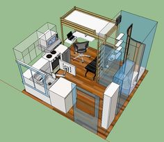 everything into 126 square feet of living space.