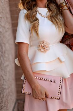 Girly pink & white outfit