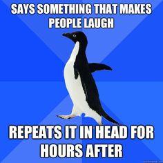 life, laugh, awkward penguin, funni, true, humor, penguins, meme, social awkward