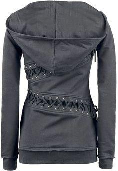 Back Lace Long Sleeves Felpa Hoodie