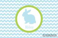 Personalized Easter PlacematEaster Chevron by Ladypaintsalot, $16.00