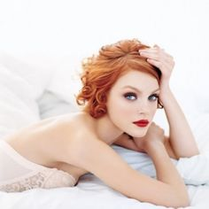 hair colors, eye makeup, ginger, red hair, blue, jessica stam, red lips, shorts, redheads