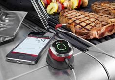 iGrillmini ($40): Put away the prongs, tongs and assorted gadgets for monitoring your meat, 'cause this is the only one you'll need. A single probe, wireless Bluetooth® smart thermometer that tells you when it's done.