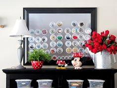 magnetic storage board and cups